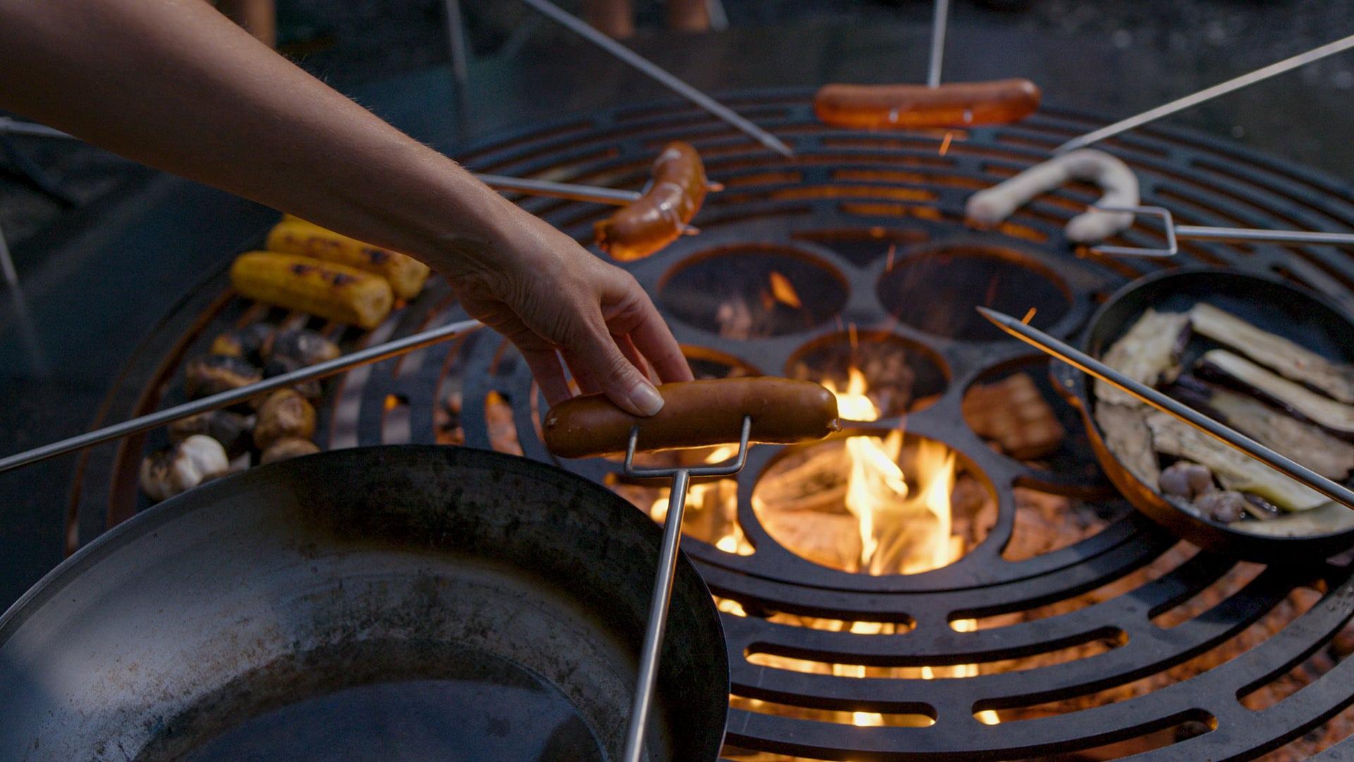 Die Feuerstelle Eine Grosse Und Einzigartige Feuerschale